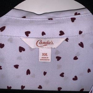 NWOT Candie's Long Sleeve Heart Button Up …